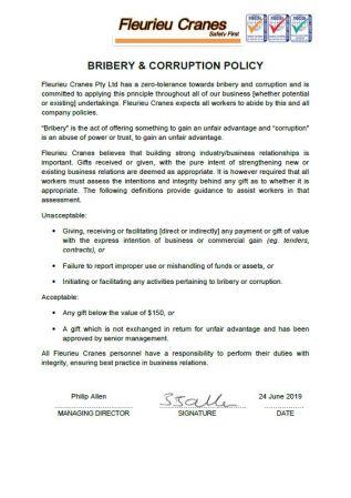 Bribery & Corruption Policy
